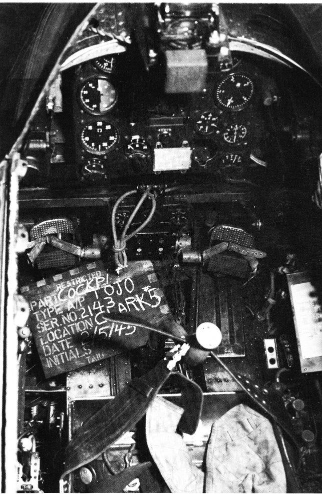 Ki-44 cockpit