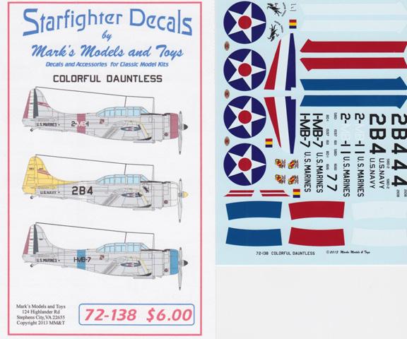Starfighter sheet 72-138
